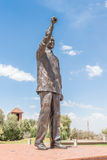 Bronze statue of Nelson Mandela on Naval hill Royalty Free Stock Photo