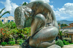 Bronze statue of nude woman in Budva Royalty Free Stock Images