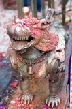 Bronze Statue Of Lion At Dakshinkali Temple In Pharping, Nepal Royalty Free Stock Image