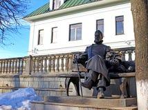 Bronze statue of A.P. Chekhov in Zvenigorod Royalty Free Stock Photos