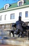 Bronze statue of A.P. Chekhov in Zvenigorod Stock Photo