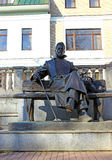 Bronze statue of A.P. Chekhov in Zvenigorod Stock Photography