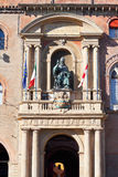 Bronze statue in Palazzo Comunale in Bologna Royalty Free Stock Images