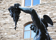 Bronze statue of Perseus holding head of Medusa Stock Photo