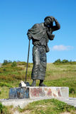 Bronze statue pilgrim. Monument to the Pilgrim in San Roque Height Stock Photography