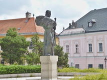 Bronze statue of Prince Pribina. A bronze statue of Prince Pribina, first known Slovak ruler in our region. Statue dates from 1989 and its author is a famous royalty free stock photo