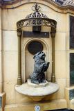 Statue of Islay, Queen Victoria`s Favourite Dog, QVB, Sydney, Australia. A bronze statue of Queen Victoria`s favourite dog Islay, a Skye Terrier, outside the royalty free stock photo