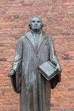 Bronze statue of the reformer Martin Luther in front of Luther c Royalty Free Stock Photo