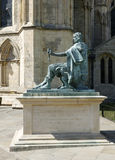 BRONZE STATUE OF ROMAN EMPEROR CONSTANTINE THE GREAT. ADJACENT TO YORK MINSTER, YORKSHIRE, UK Stock Photography