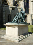 BRONZE STATUE OF ROMAN EMPEROR CONSTANTINE THE GREAT. ADJACENT TO YORK MINSTER, YORKSHIRE, UK Royalty Free Stock Photo