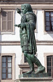Bronze statue of the Roman Emperor Constantine in Milan, Italy. Bronze statue of the Roman Emperor Constantine who issued the Edict of Milan in AD 313 Stock Images