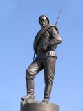 Bronze statue of Russian soldier. Element of monument to heroes of First World war Royalty Free Stock Photo