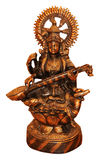 Bronze statue of Saraswati. Royalty Free Stock Images