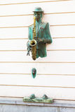 Bronze statue of saxophonist in old Tbilisi, Georgia Royalty Free Stock Photography