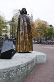 Bronze statue of Spinoza, Amsterdam, Holland Stock Photo