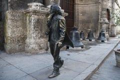 Bronze statue square Francis Assisi, Cuba Stock Image