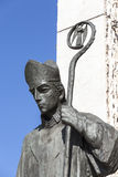 Bronze  statue of  St. Stanislaus  on Altar Three Millennia,Krakow, Poland Royalty Free Stock Photography