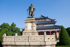 Bronze statue of Sun yat-sen. Stand at Memorial Hall in Guangzhou,Guangdong,China. Sun (1866-1925)was a revolutionary and political leader. As Sun is Founding Royalty Free Stock Photo