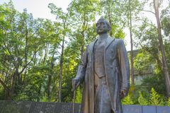 Bronze statue of Sun Yat-Sen in Taipei