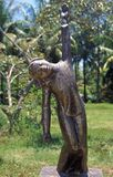 Bronze Statue to My Lai Massacre. Bronze statue of a girl being shot at the memorial to the victims of the My Lai Massacre, Vietnam Stock Photos