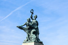 Bronze statue in Turin, Italy Royalty Free Stock Photos