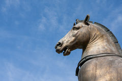 Bronze statue venice Stock Image