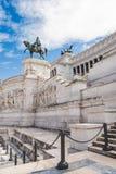 Bronze statue of Victor Emmanuel II on Altare della Patria. (Altar of the Fatherland), Rome, Italy stock image
