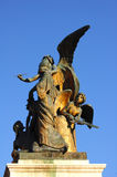 Bronze statue in The Victor Emmanuel Monument  Royalty Free Stock Image