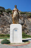 Bronze statue of the Virgin Mary.  Stock Photography