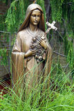 Bronze Statue of Virgin Mary Royalty Free Stock Image