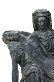 Bronze statue of Virgin Mary holding the body of Jesus Christ. Royalty Free Stock Images