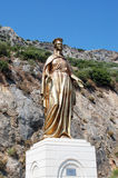 Bronze statue of the Virgin Mary near Ephesus, Turkey.  Stock Photography