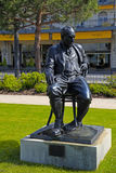 Bronze Statue of Vladimir Nabokov in Montreux, Switzerland Royalty Free Stock Photos