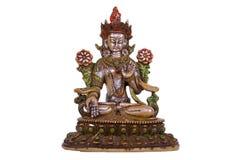 Bronze- Statue von einem Sitz-Buddha Stockfotografie