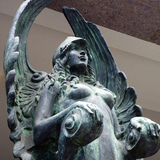 Bronze Statue, Winged Female Royalty Free Stock Photos