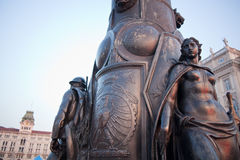 Bronze statue of a woman, Trieste Royalty Free Stock Photography
