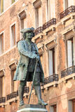 Bronze statue of writer Carlo Goldoni in Venice Stock Photography