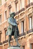 Bronze statue of writer Carlo Goldoni in Venice Stock Photography