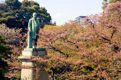 Bronze statue of Yajiro Shinagawa at Yasukuni Shrine Stock Images