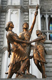 Bronze statues Royalty Free Stock Photography