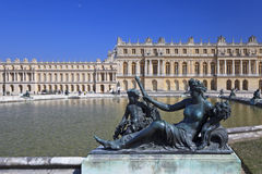 Bronze statues in garden of Versailles. France Royalty Free Stock Photo