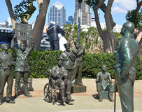 Bronze statues of A National Salute to Bob Hope Royalty Free Stock Photo