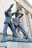Bronze Statues in University of Science and Technology In Krakow, Poland Stock Photos