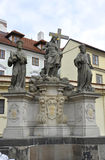 Bronze Statues in Wallenstein Palace courtyard from Prague in Czech Republic Royalty Free Stock Image