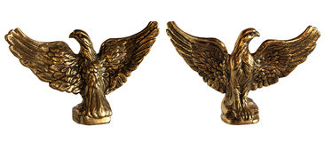 Bronze statuette of Eagle Stock Photos