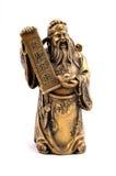 bronze staty för buddha gudguld Arkivbild