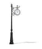 Bronze street clock Royalty Free Stock Photography