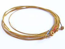 Bronze strings Royalty Free Stock Photo