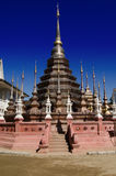Bronze stupa, Thailand. Impressive bronze stupa at the Buddhist temple Wat Phan Tao in Chiang Mai, Thailand Stock Images