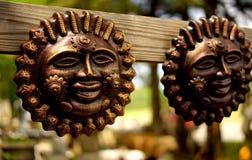 Bronze sun gods garden decor Royalty Free Stock Photography